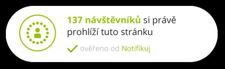 Notifikace Aktuální návštěvníci | Notifikuj.cz