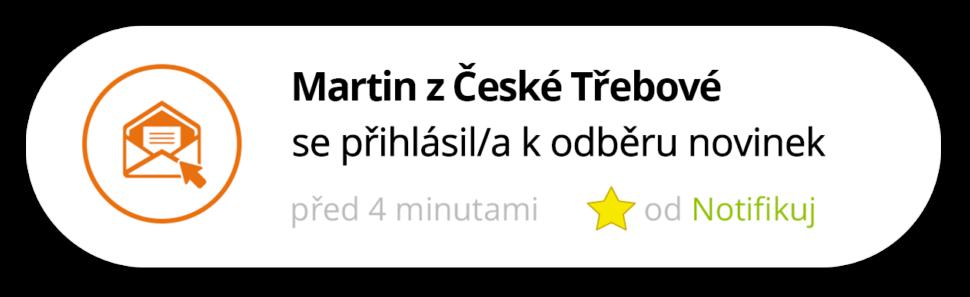 Notifikace Registrace | Notifikuj.cz