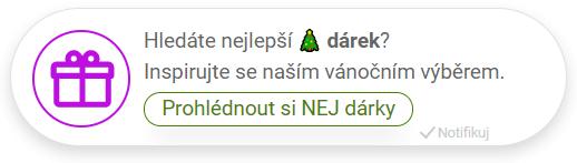 Notifikace TOP nabídka snej dárky